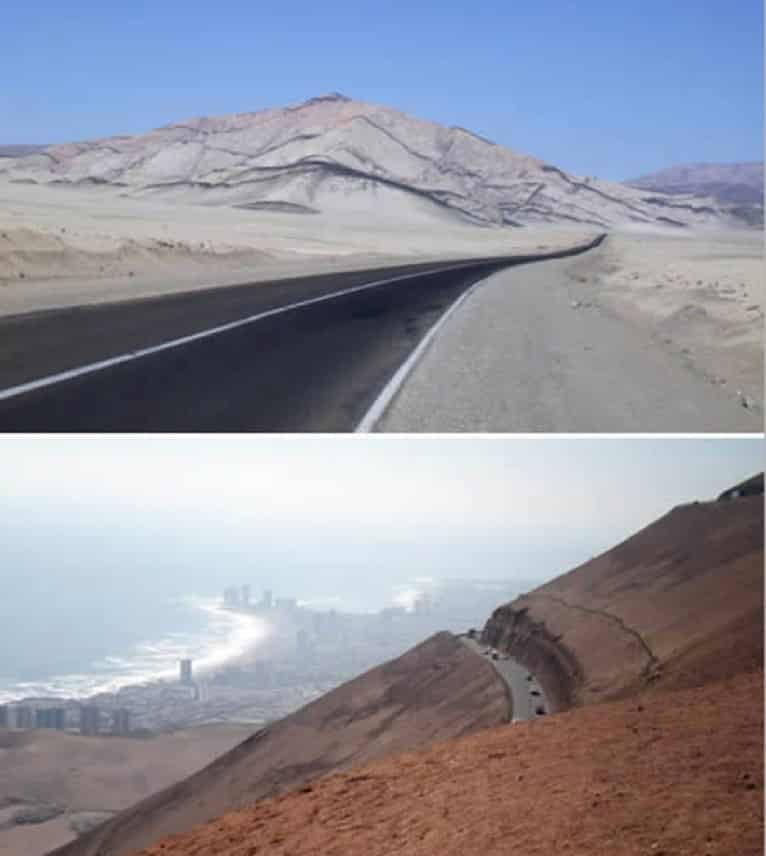 Estrada de Arica para Iquique