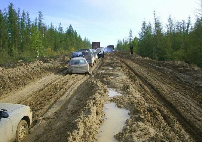 Estrada para Yakutsk Movimentada
