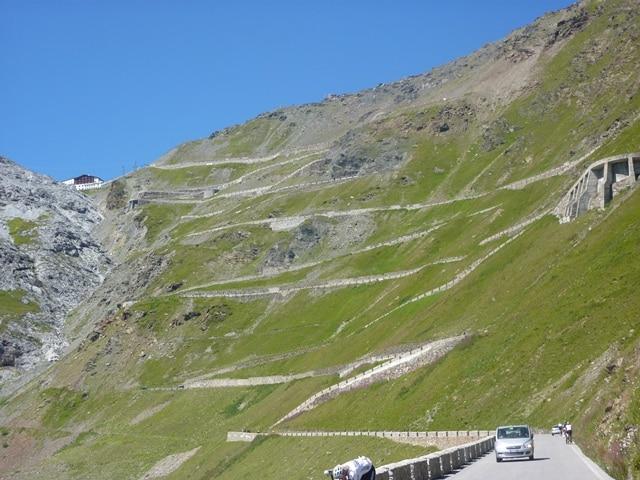 Estrada Stelvio Pass Road Outra Perspectiva