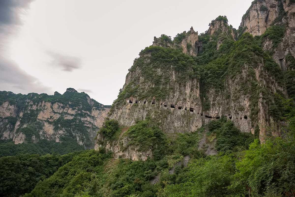 Tunel da Estada Guoliang Visão da Montanha